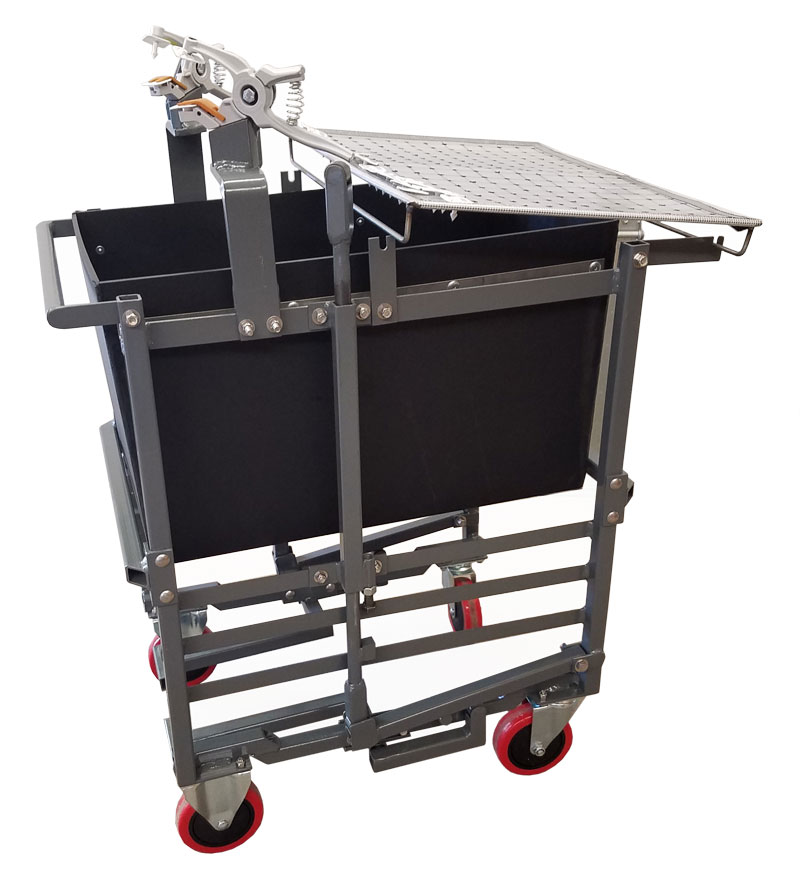 ID Cart PigEasy tag and tattoo identification cart (White Background)